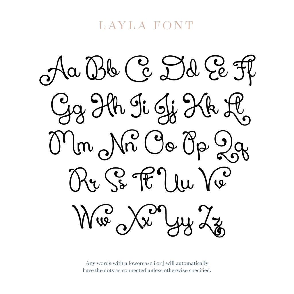 Layla Font - Wooden Monogram Sign