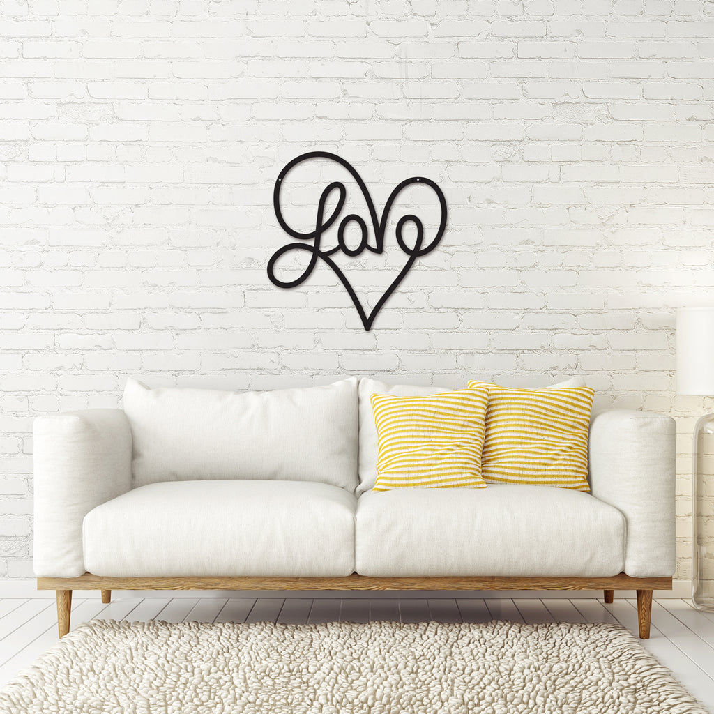 Metal Love Heart Sign