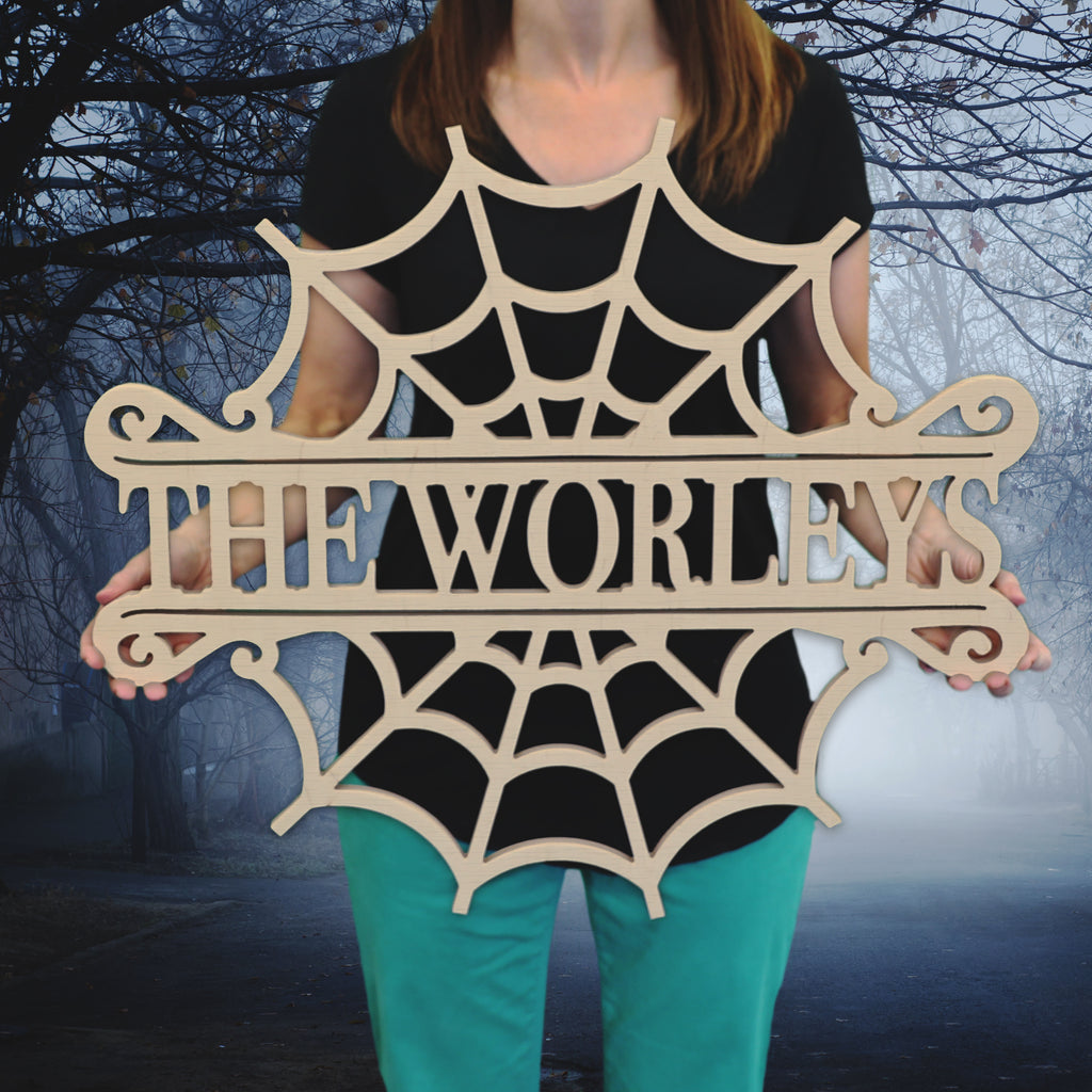 Cobweb Name Sign