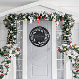 Christmas Wreath Sign - Metal