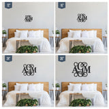 Mixed Wooden Monogram Sign