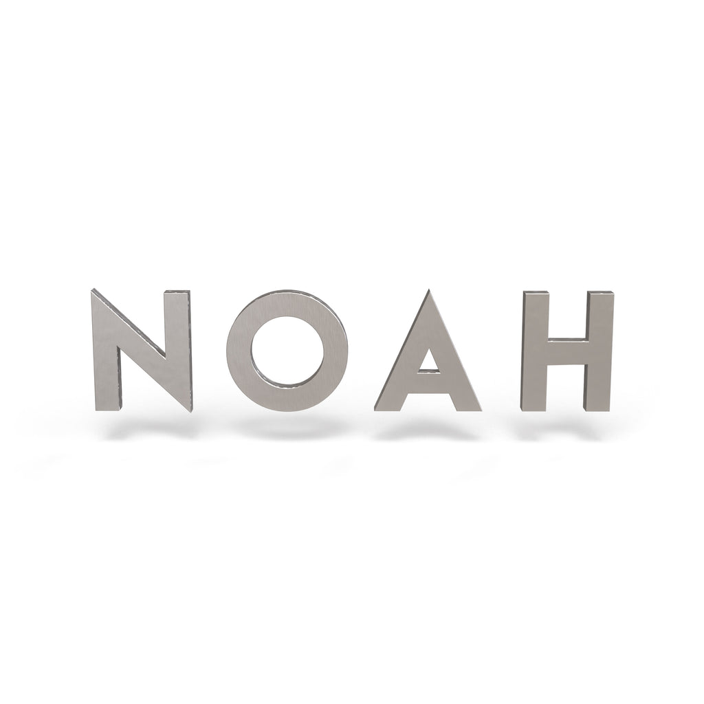 Noah Font - Wooden Monogram Sign