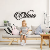 Olivia Font - Wooden Monogram Sign