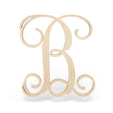 Regular Font - Wooden Monogram Sign
