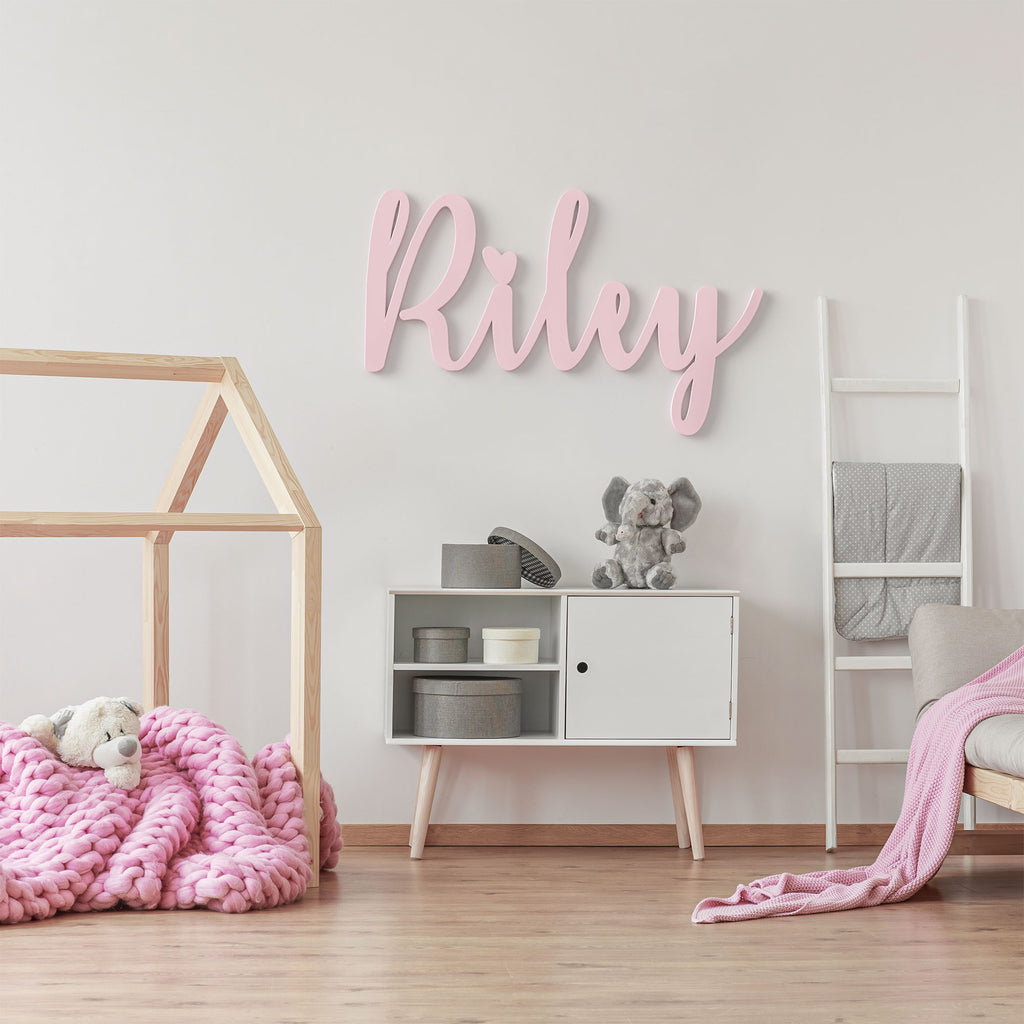 Riley Font - Wooden Monogram Sign