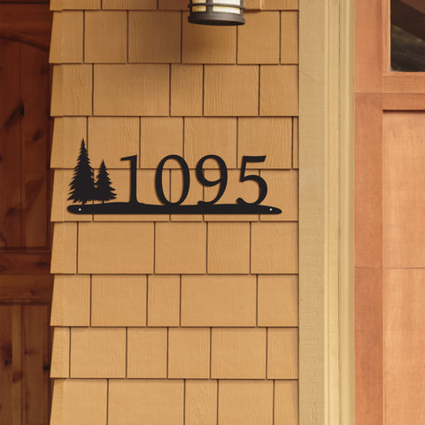 Rustic Basic Address Sign