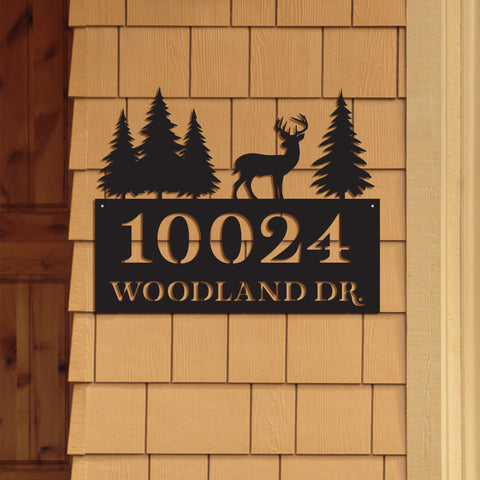 Rustic Address Sign