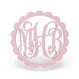 Scallop Wooden Monogram Sign