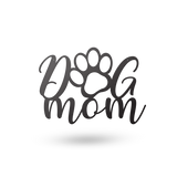 An image of the Dog Mom metal monogram from 48 Hour Monogram.