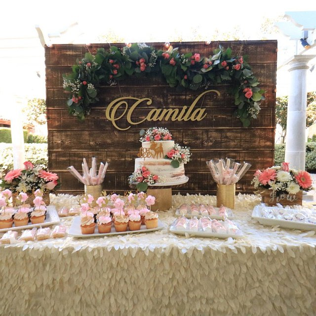gold wooden name sign for wedding table decor