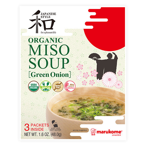 Organic 3 Pack Green Onion Instant Miso
