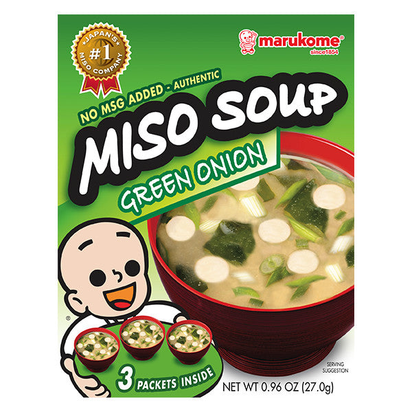 Instant Miso Soup 3 Pack Green Onion - 3 bags