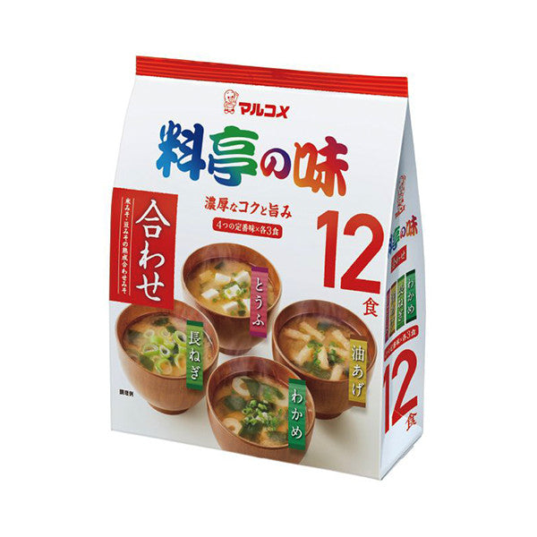 12 pack Ryotei No Aji - Assorted Instant Miso Soups