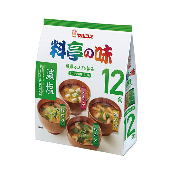 12pk Ryotei No Aji - Assorted Reduced Sodium Instant Miso Soups