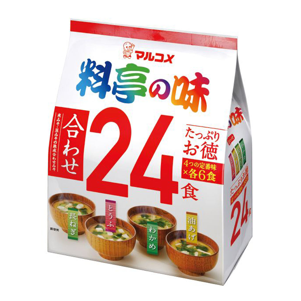 24 pack Ryotei No Aji - Assorted Instant Miso Soups