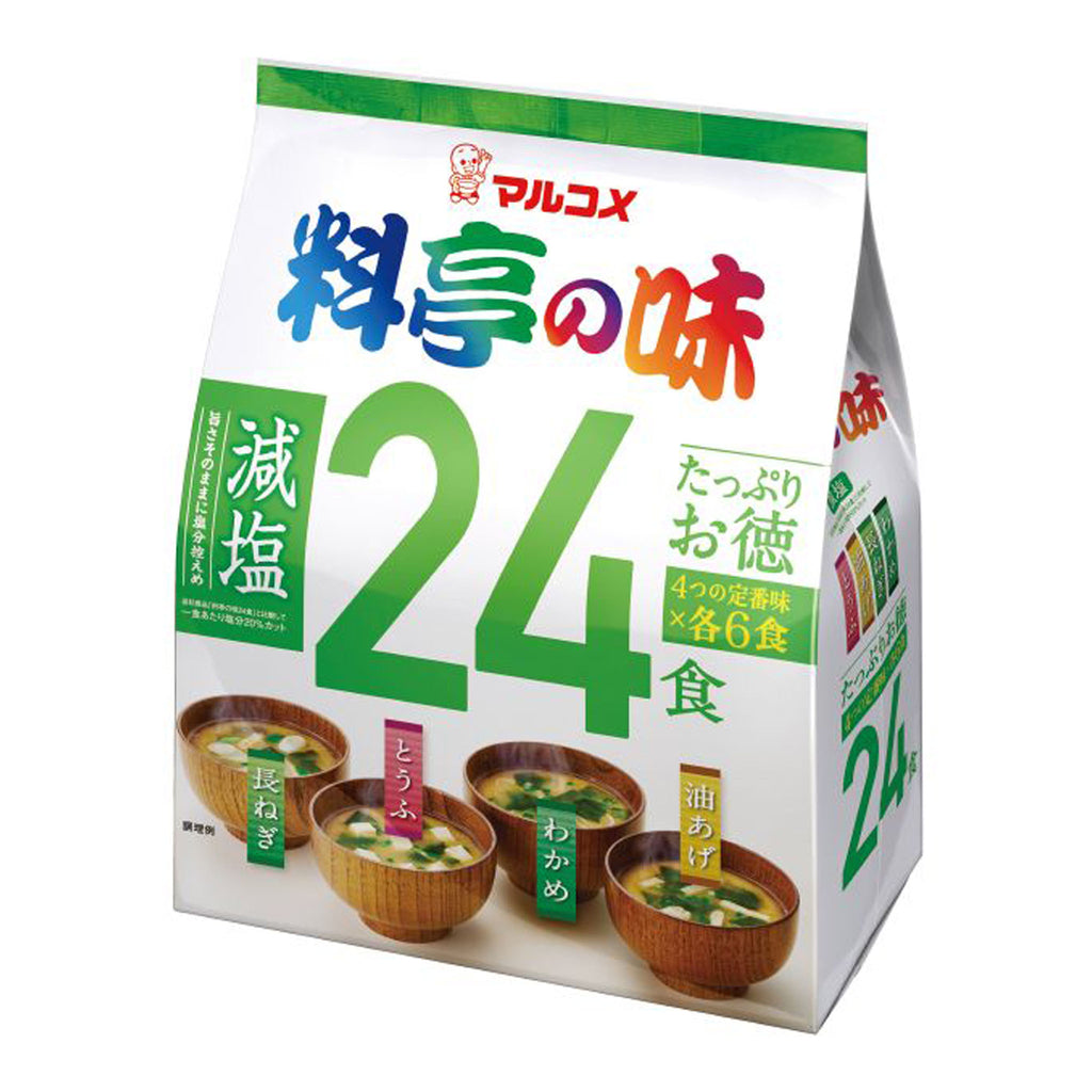24 pack Ryotei No Aji - Assorted Reduced Sodium Instant Miso Soups