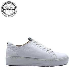 Angelsoft Cindy Lace-up Leather Sneaker (1964) White