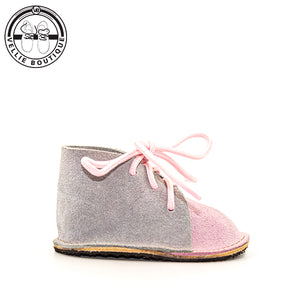 Bambino Vellies (Grey / Pink) - Vellie Boutique