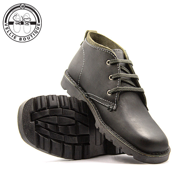 Sahara Trapper Black - Grey (5520) size 6, 7, 8,11 and 12 - Vellie Boutique