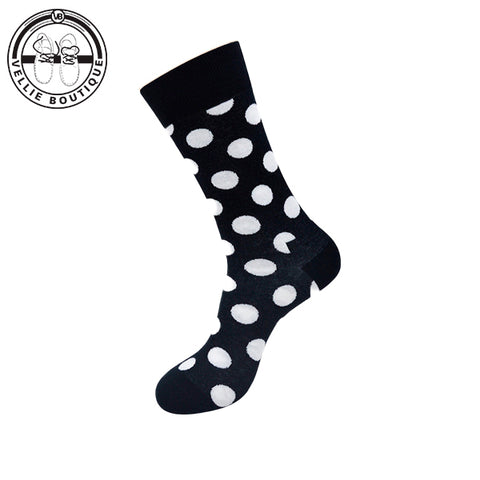 Dot Socks - Black & White - Vellie Boutique