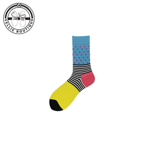 Crazy Fun Socks (Light Blue, Yellow & Pink)