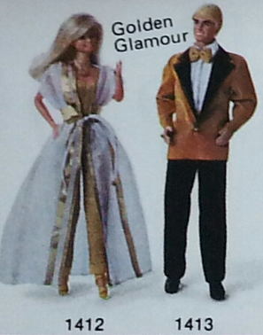 Barbie and Ken Designer Originals: #1412 - Golden Glamour (Barbie)