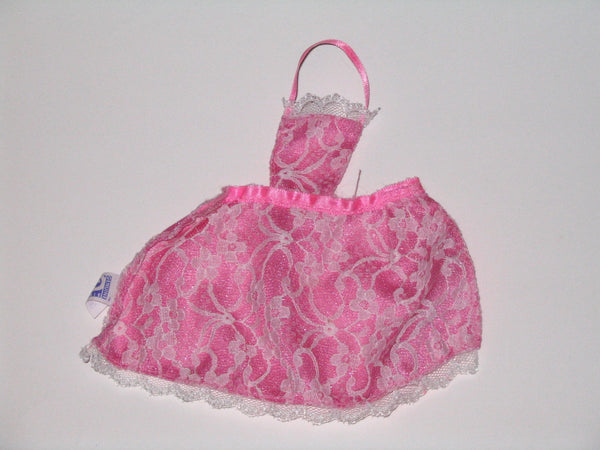 Genuine Barbie:  Pink Apron with White Lace