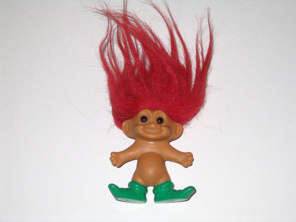 Vintage Russ Merry Little Elf Troll with Red Hair: 3 inches Tall