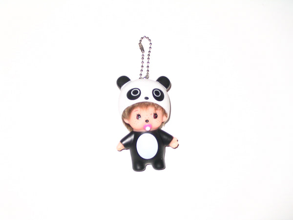 Monchhichi Keychain:  Boy with Panda Outfit