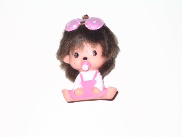 Monchhichi Keychain:  Girl with Pink Dress