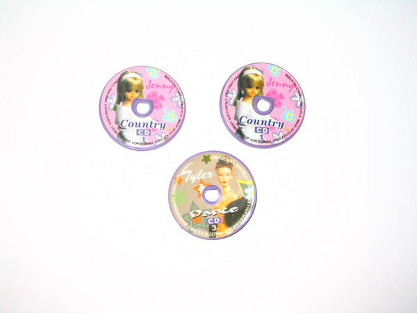 Lot of 3 - Jenny and Tyler Dolls - Mini Plastic CD's
