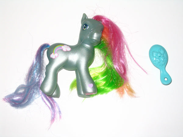 G3 My Little Pony:  2nd Edition Rainbow Dash II with Brush