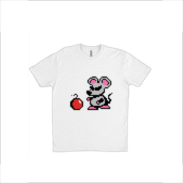 8 Bit Pixel Mouser with Bomb / Super Mario Bros. 2 Mouse / Rat Unisex T-Shirt: Multiple Sizes & Colours