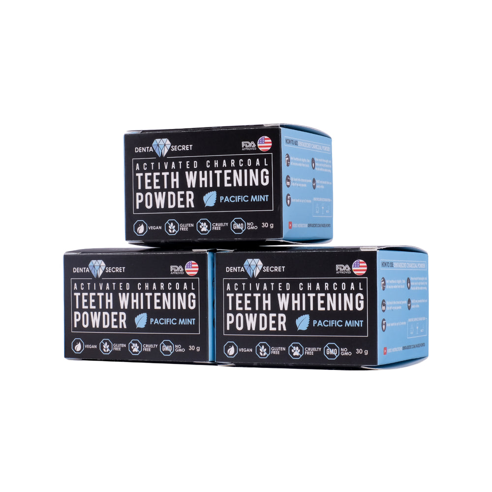 Charcoal Teeth Whitening Powder x3