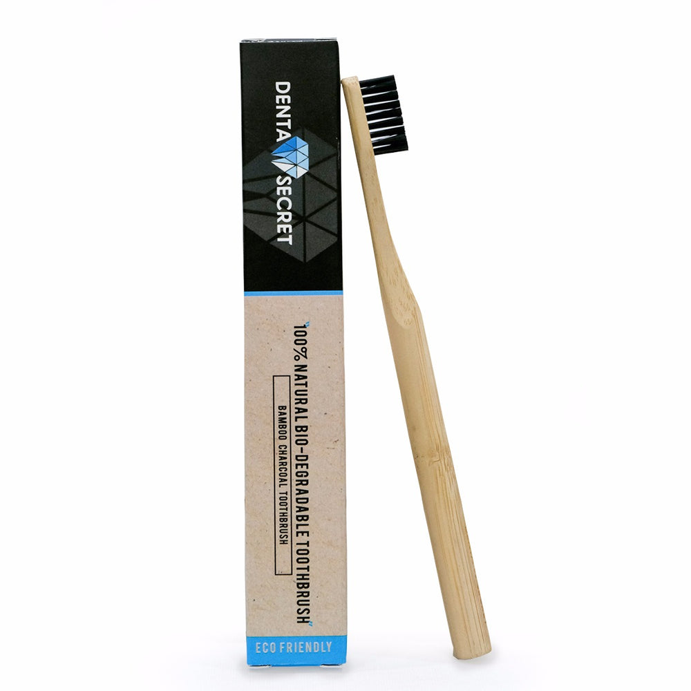 Charcoal Toothbrush with Bamboo Handle