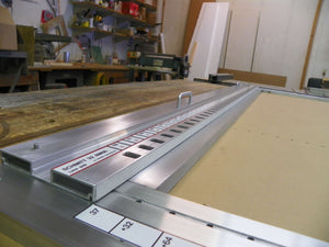 Closeup of Schmitt32 Line Boring System Notched Guide Rail
