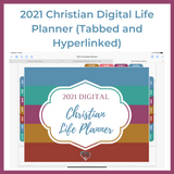 2021 Digital Christian Life Planner | GoodNotes | Tabbed and Hyperlinked