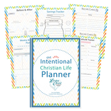 Complete Intentional Christian Life Planner Bundle (110+ Pages, 4 Designs)