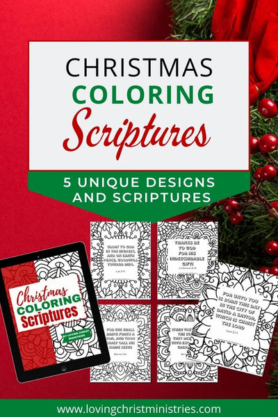 Christmas Coloring Pages - 5 Unique Designs & Scriptures