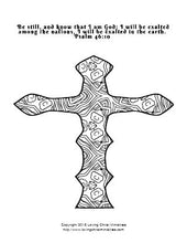 Load image into Gallery viewer, Coloring Crosses Scripture Coloring Pages