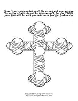 Coloring Crosses Scripture Coloring Pages