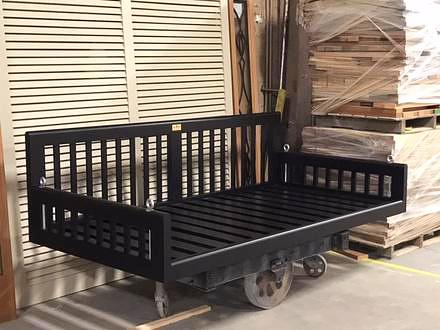 Original Charleston Bedswing, Painted Black