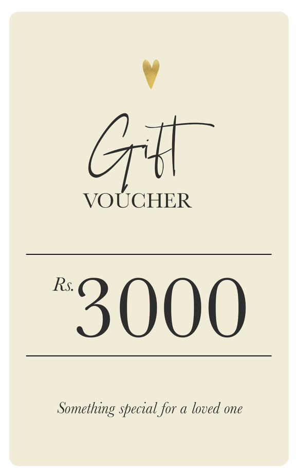 Soul Gift Voucher - Rs.3000