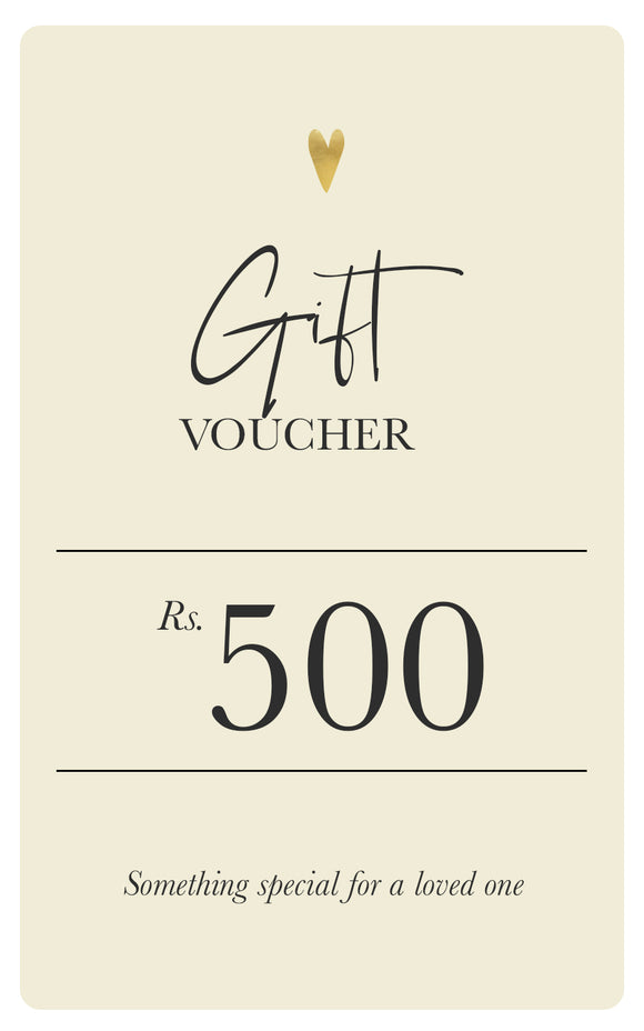 Soul Gift Voucher - Rs.500