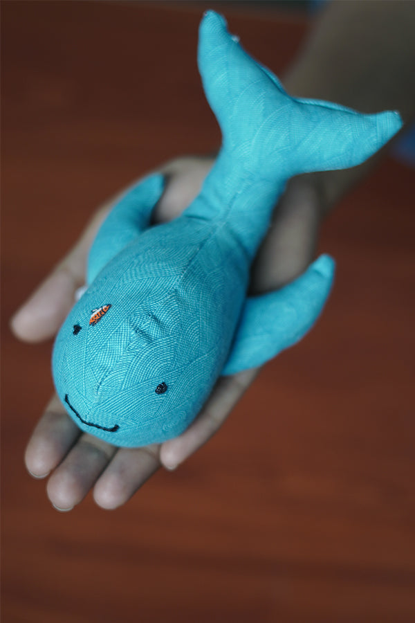 Upcycled Soft Toy: Whale