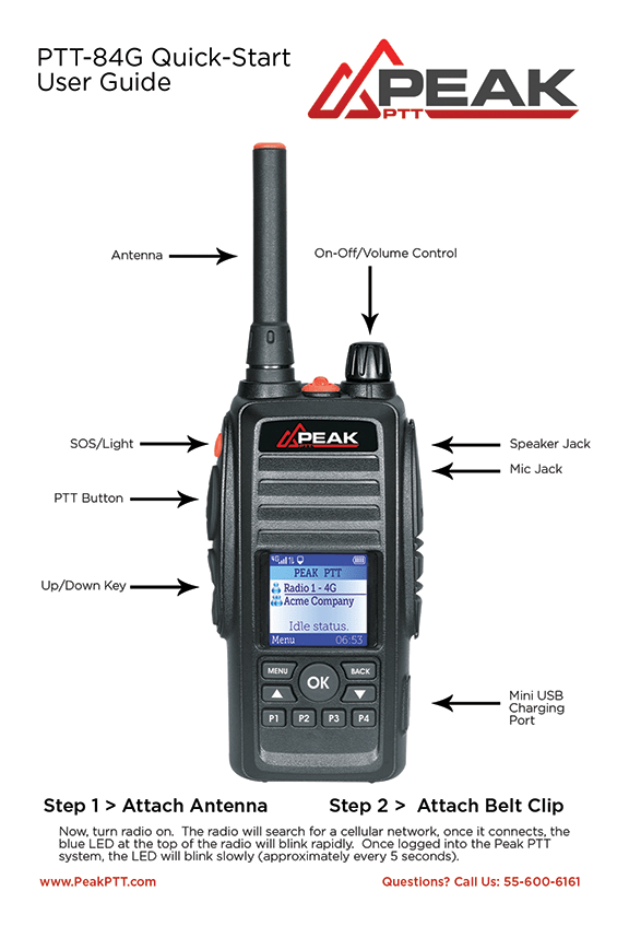 Peak 4G Push To Talk (PoC) Radio | PTT Walkie Talkie | Peak PTT
