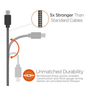 Durable 12 VDC USB to Micro USB Cable