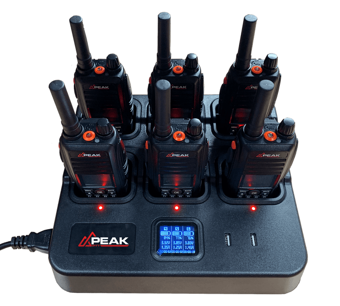 PTT-84G 6-Way Multi-Charger