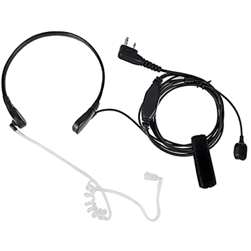 PTT-84G Throat Vibration Mic With Earpiece