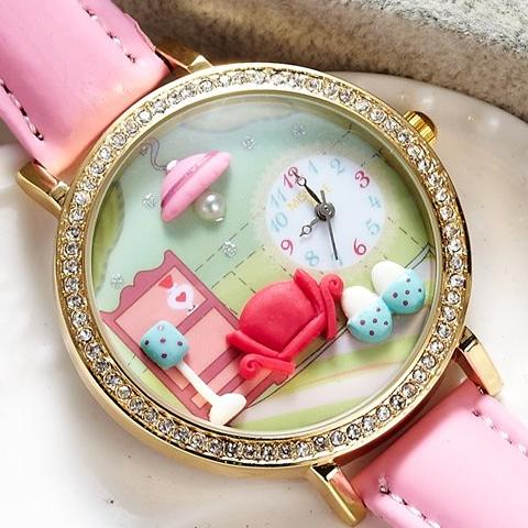 Cute Room- Austria Crystal Studded Watch